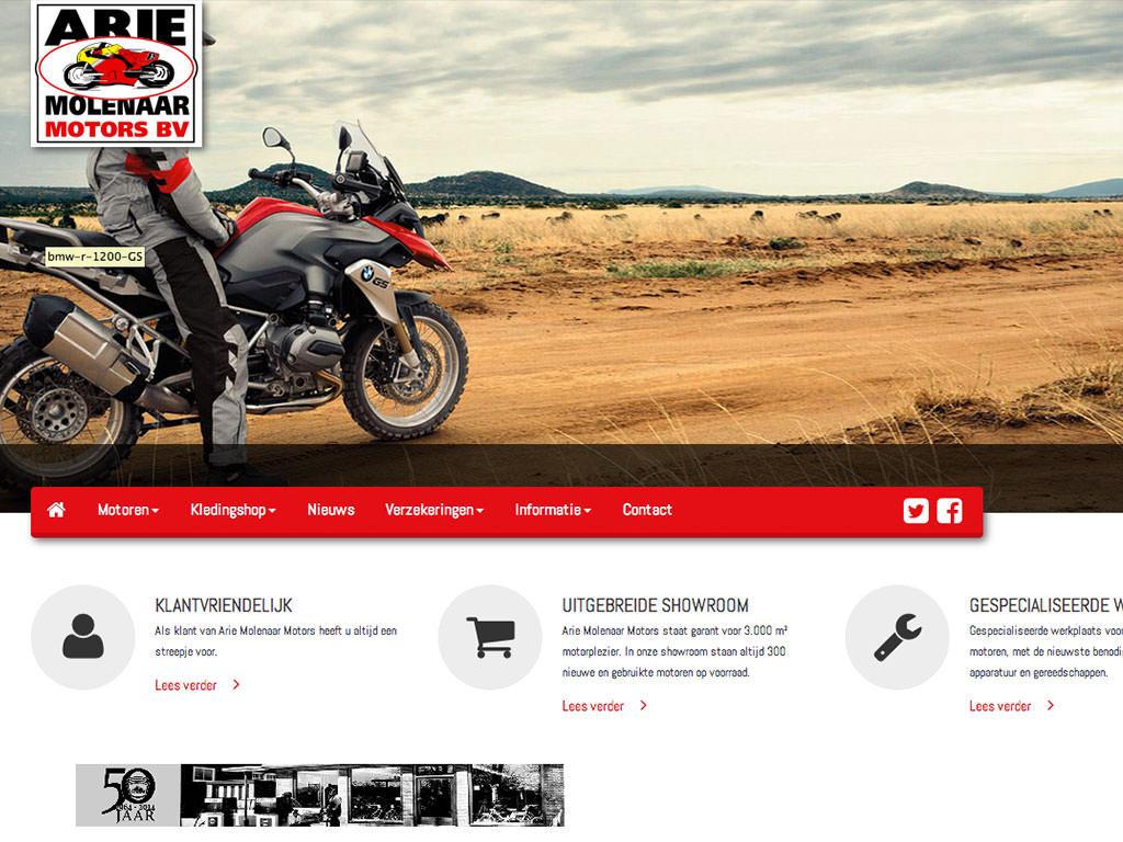 Nieuwe website Arie Molenaar Motors