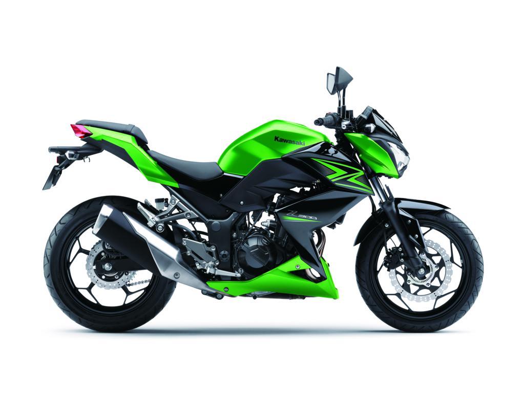 Kawasaki motor groen