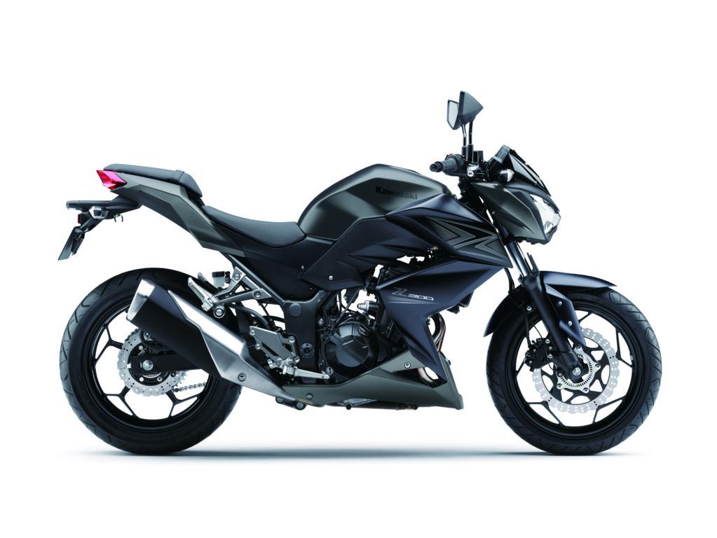 Kawasaki motor zwart