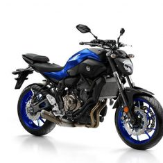 Yamaha MT 07 zwart blauw