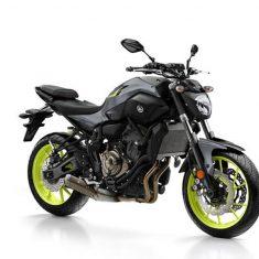Yamaha MT 07 zwart geel