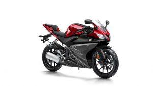 Yamaha R125 rood zwart