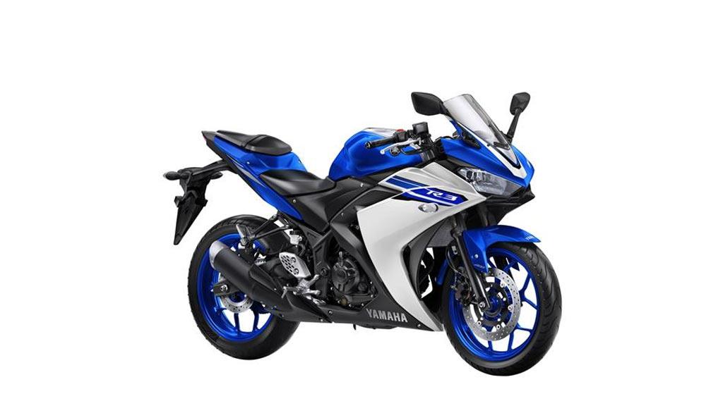 Yamaha YZF R3 blauw wit