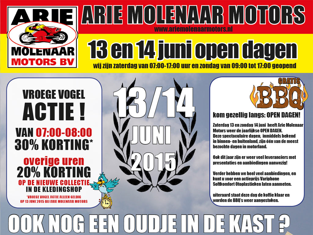 open dag 2015 bij Arie Molenaar Motors
