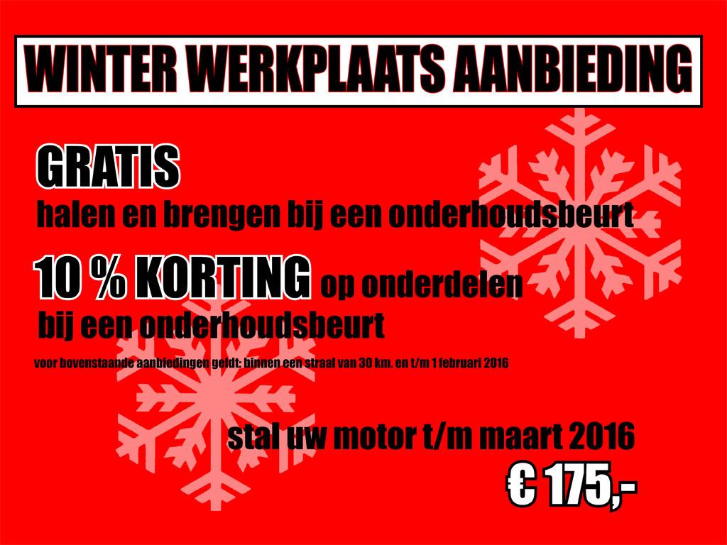winter werkplaats aanbiedingen 2015