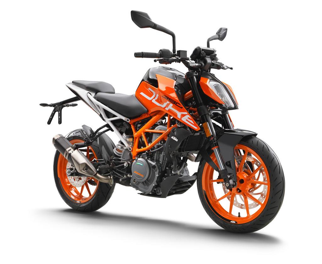 KTM 390 Duke orange
