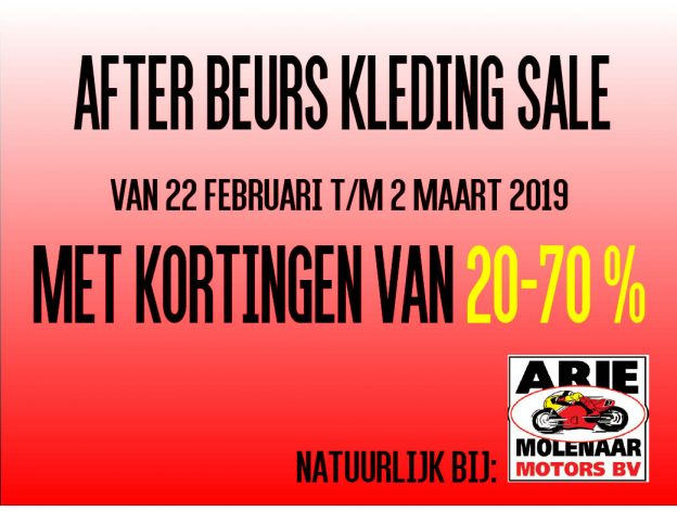 2019 After Motorbeurs Sale