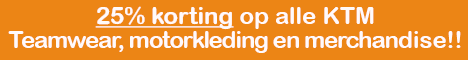 Banner 25% korting oranje