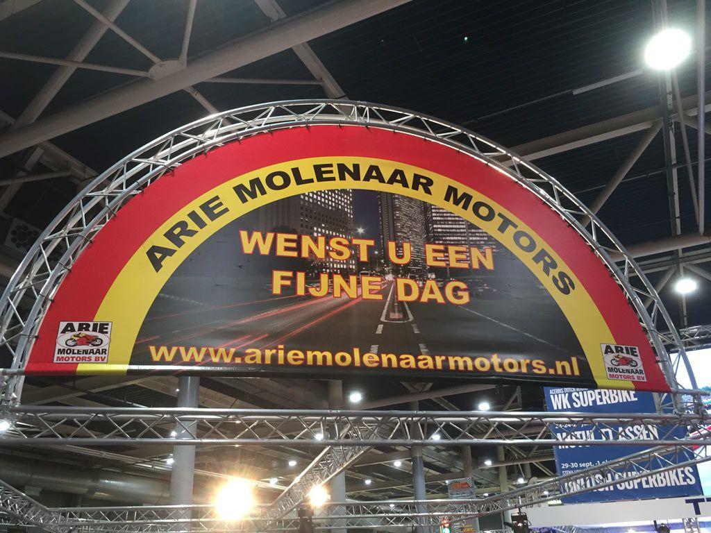 Arie Molenaar Motors op de motorbeurs