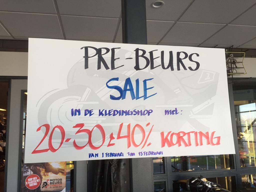 Pre MOTORbeurs Sale