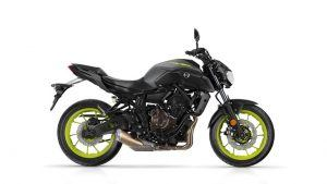 Yamaha MT 07 2018 grijs geel