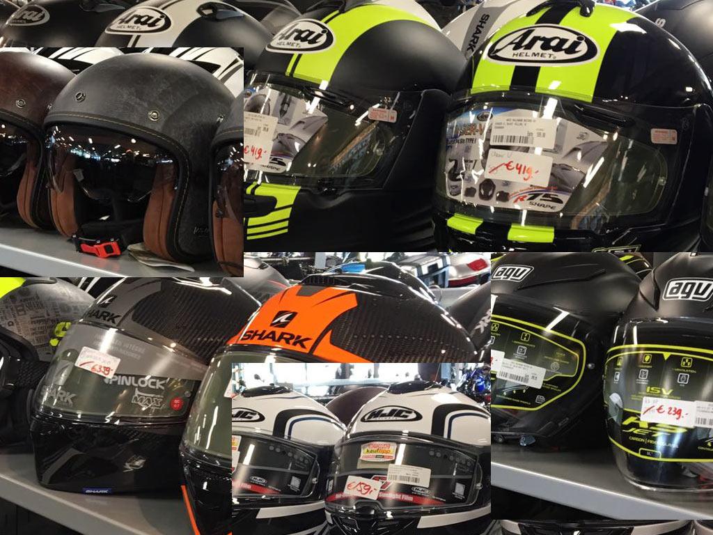 Helmen in de aanbieding