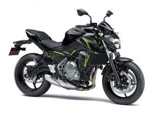 Kawasaki z650 zwart groen frame