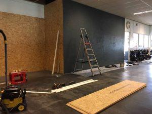 Verbouwing showroom Arie Molenaar Motors fase 1